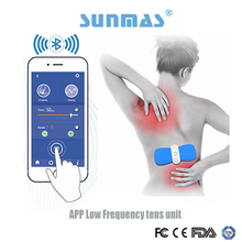 Sunmas App phone wireless bluetooth control silicone self adhesive Reflexology muscle body pressure therapy machine
