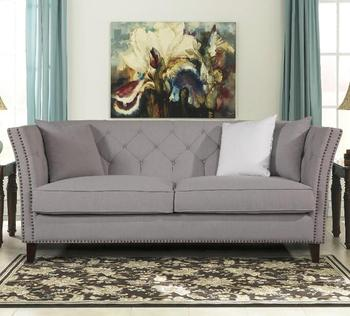 French Chesterfield Fabric Sofa Set Designs