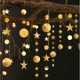 Elegant Matt Mirror Style 4 Meters Star + Circle Dot Garland for Home Bedroom Class Party Decoration S226
