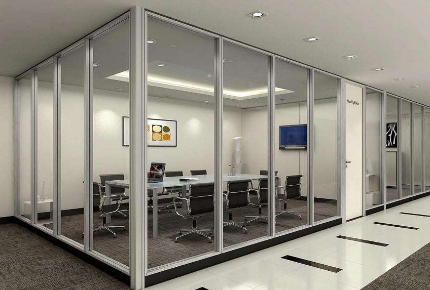 Frosted Glass Room Dividers,Clear Glass Partition Wall,Soundproof ...