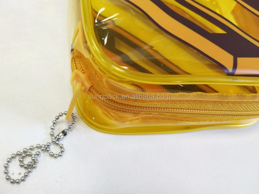 Clear Waterproof PVC Ziplock Pouch for ID Card Travel Cosmetic Storage Packaging Bag