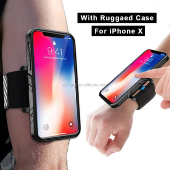 new product 76ef2 d8faa Running Armband Workout Forearm Wristband With Dual Layer Shockproof Case  For Iphone X/xs 5.8 Inch - Buy Running Armband For Iphone Xs,For Iphone Xs  ...