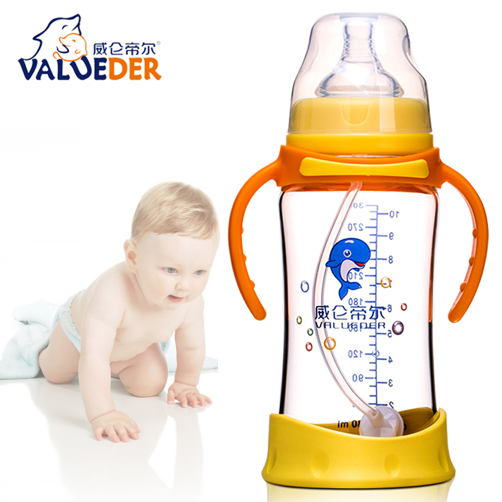 BPA free anti fall heat resistant OEM factory New Glass baby feeding bottle and baby bottle manufacturer