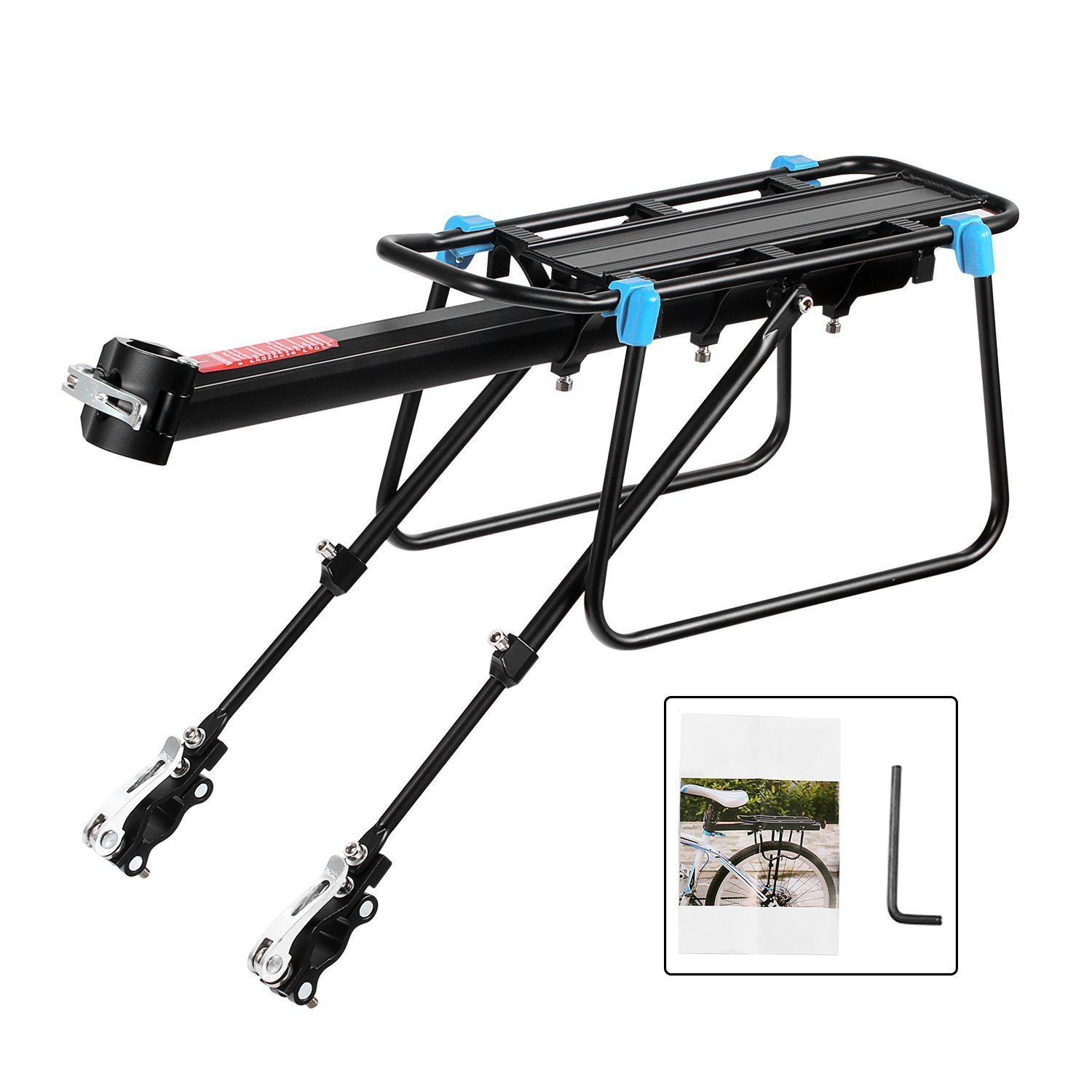 Bike Bicycle Quick Release Carrier Rear Rack Fender Luggage Seat Post Pannier UK