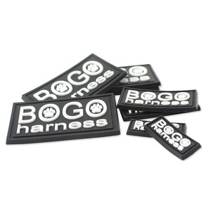 Sew on Embossed Custom Private Brand Name 3D Logo Garment Soft PVC Rubber Patch Labels for Clothing