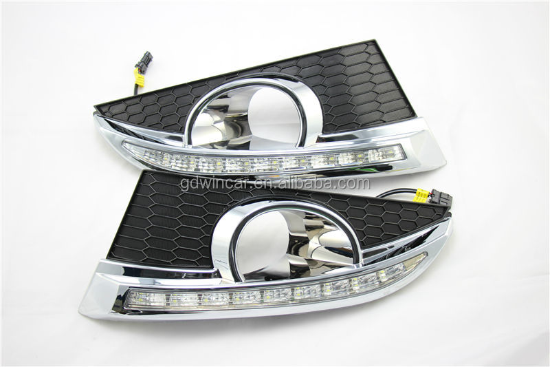 high power LED DRL daytime running lights used for Chevrolet Captiva accessories 100% waterproof & safty installation2011-2013