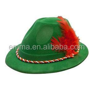 28ed420c1bf7a Verde alemán fieltro sombrero Oktoberfest Festival de la cerveza Tirol  bávaro disfraces sombrero HT087