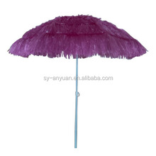 outdoor uv protection pagoda hawaii grass tiki beach parasol umbrella