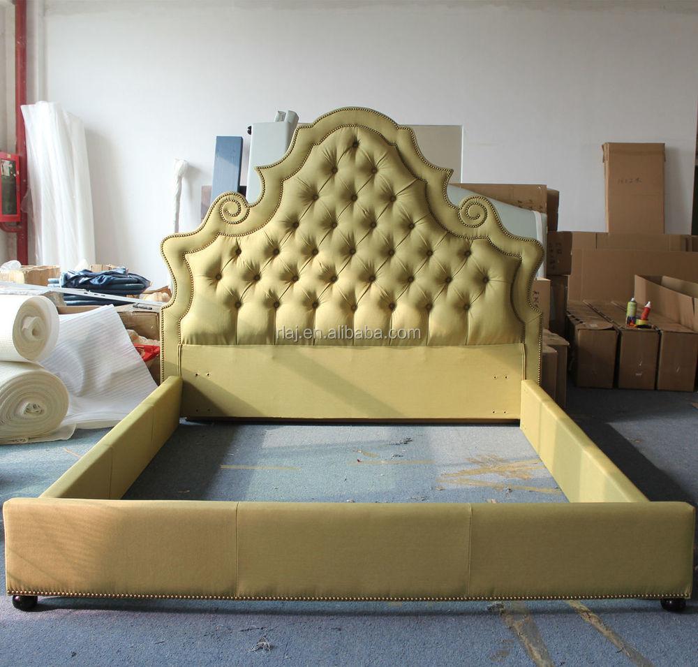 Nuevo Estilo Diamante Tapizado Color Dorado Muebles Cama Buy  # Muebles Nuevo Estilo