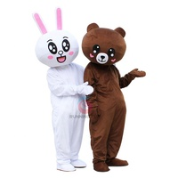 Running Fun Custom CE cony rabbit brown bear mascot costumes for adult