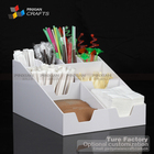 coffee room customized plexiglass cups holder Coffee flavorings savings coffee trestle acrylic plexi napkin holder