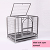 Chrome plated foldable metal wire dog cage with wheels/dog kennel/dog crate