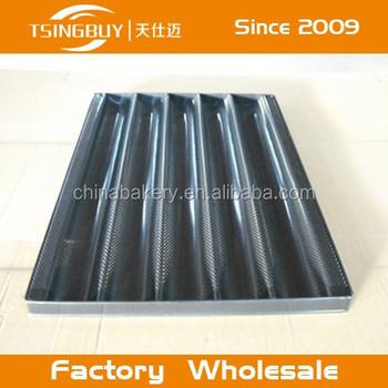 non stick perforated aluminum baguette baking traycrate and barrel baguette tray aluminum crate barrel