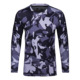 Men Camo Running t-shirt long sleeve compression shirts basketball gym tights male sport t shirts