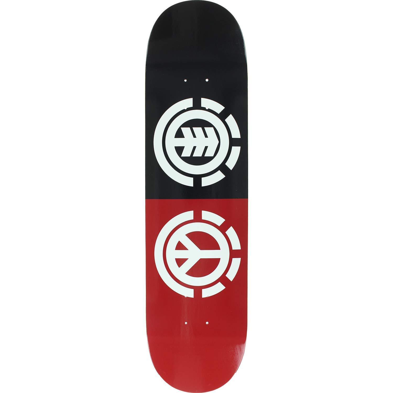 Get Quotations · Element Skateboards Peace Black Red   White Skateboard Deck  - 8