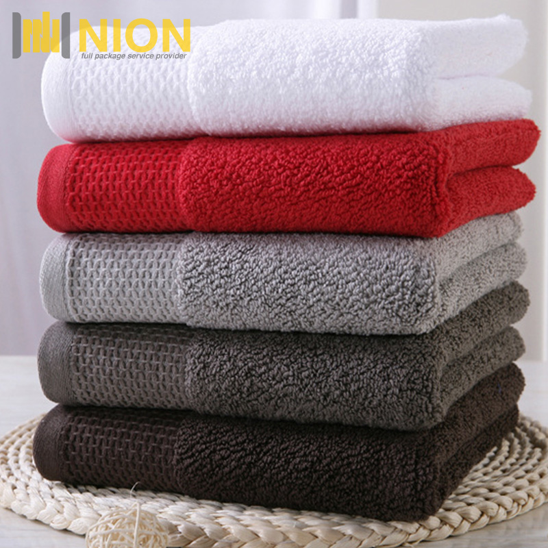 High Weighted 100% Pure Cotton Towel Absorbent and Soft Jacquard Towels 600gsm