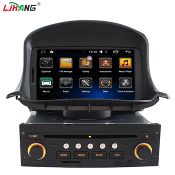 android 6.0 best selling 2 din car dvd gps navigation for peugeot 206 with 3g wifi gps radio