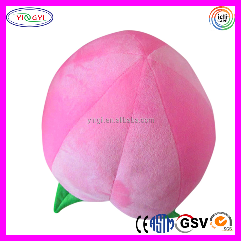 D733 Soft Giant Peach Stuffed Toy Kids Safety Plush Fruit Peach