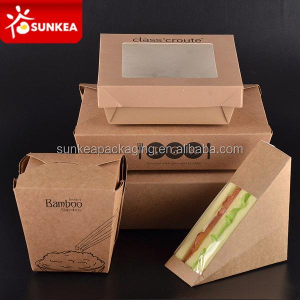 Disposable Custom Paper Takeaway Fast Food Packaging