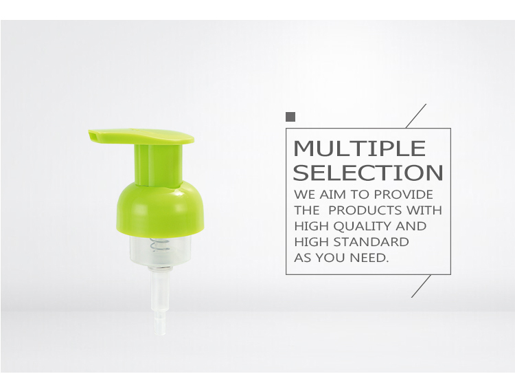 China wholesaler foaming spray dispensers plastic soap foam pump