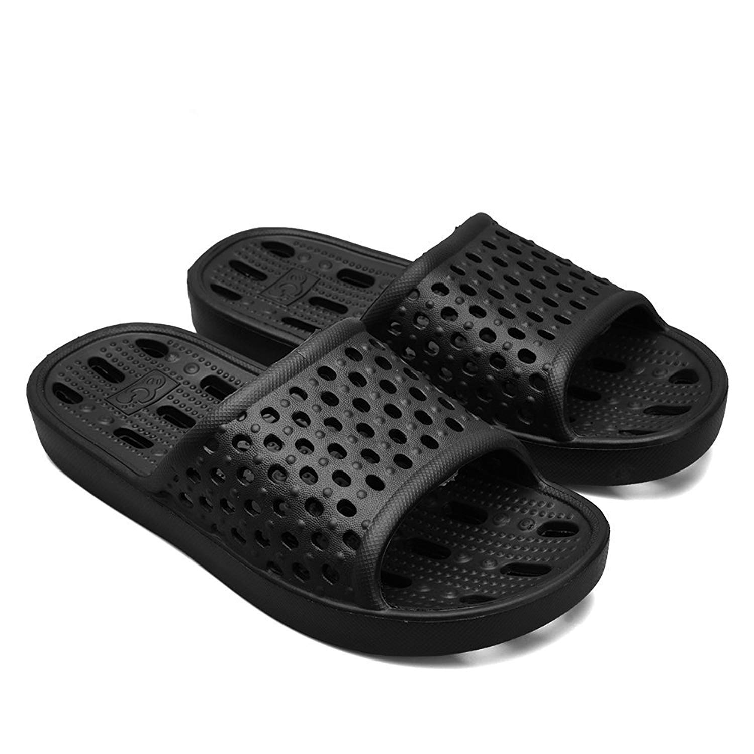 467b3e1ccc65 Get Quotations · Qiucdzi Bath Slippers Women and Men Summer Pool Shower Shoes  Breathable Non Slip Indoor House Sandals