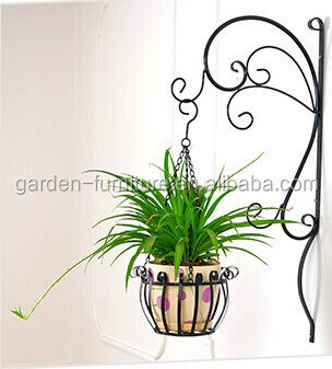 Garden decor metal wall plant pot hanging basket pots for Plaque metal decorative pour jardin