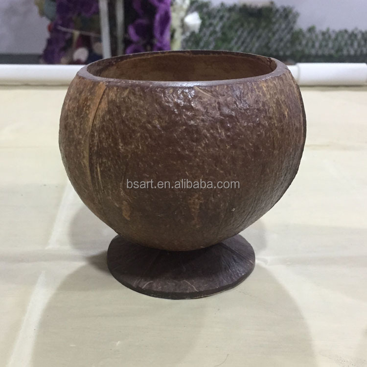 wholesale coconut cup for drinking natural coconut material
