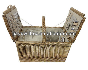2014 portable rectangular 4 persons foldable picnic baskets