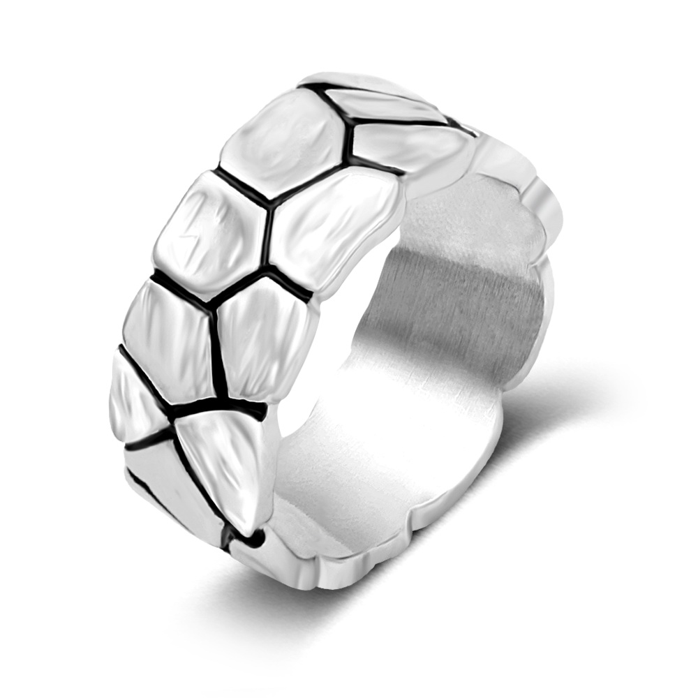 Wholesale simple design silver plating black enamel male ring