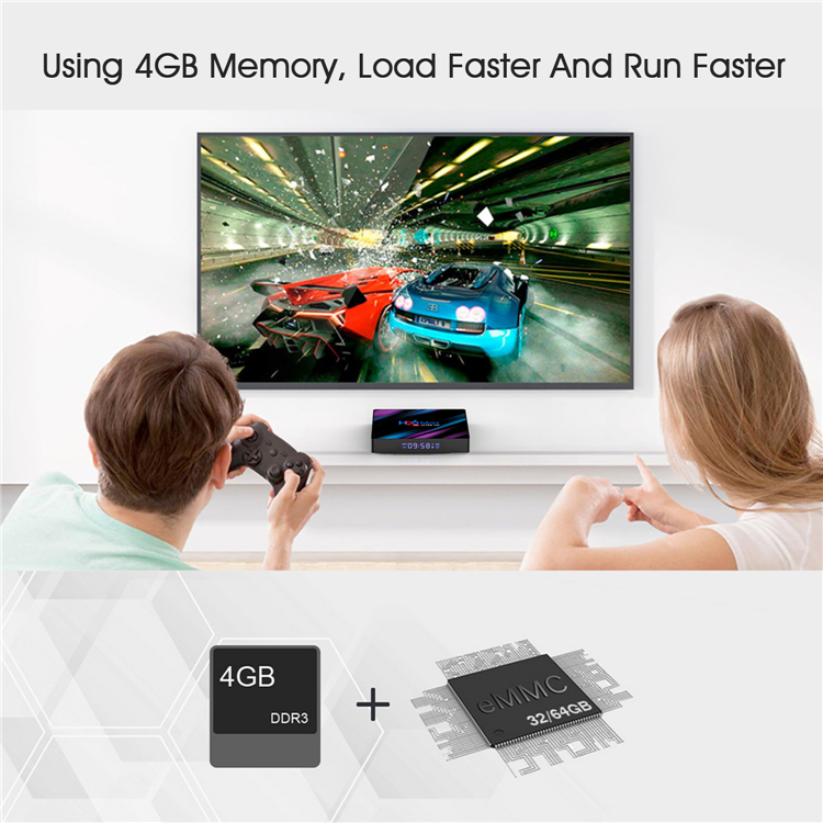 2019 tv box android 9.0 h96 max rk3318 4gb 32gb quad core tv box 4k smart tv box android with dual wifi