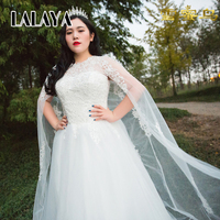 Fashion Wedding Dress Low Price Modern With Long Mantle