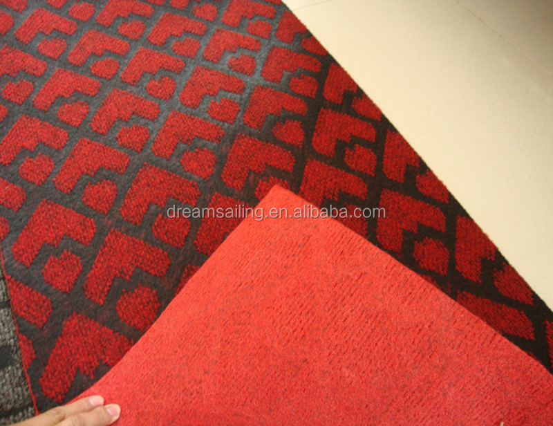 Roll Double Color Jacquard Kitchen Red Runner Carpet