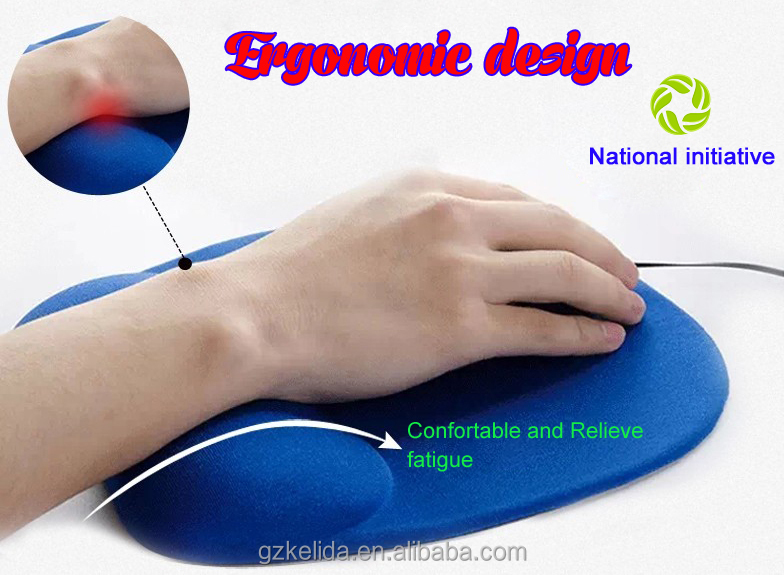 Customize Round Wrist Hand Rest Support Gel Shape Laptop Use Mouse Pad With Silica