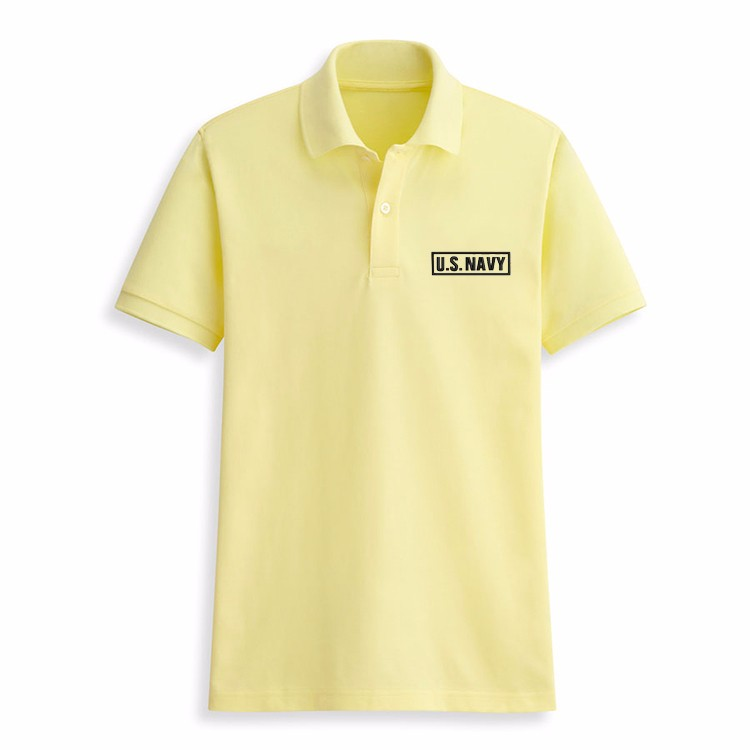 e3fb0510 Bulk US navy fashion embroidery new design wholesale military polo shirt men