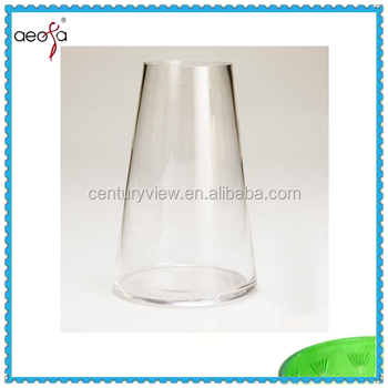 Household Decorations Tall Clear Round Glass Vases Buy Tall Clear
