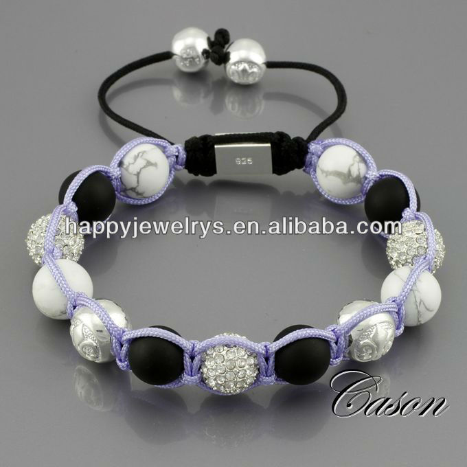 Exquisites Schmuck-Display-Armband mit Keramikperlen NYB083