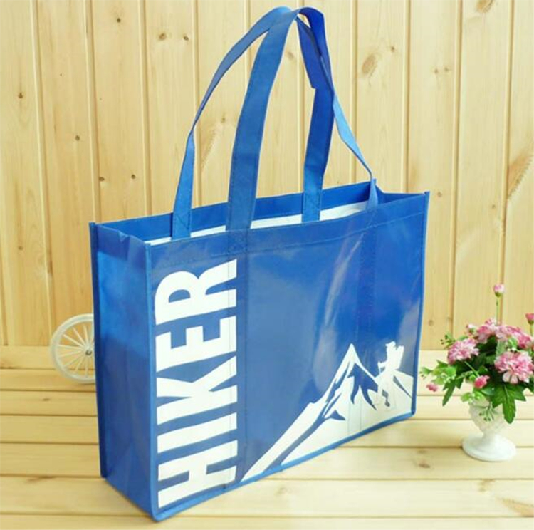 wholesale customized slogan eco woven bagg