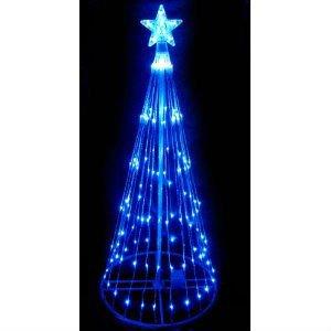 Rbol de navidad espect culo de luz led azul cono - Arbol navidad led ...