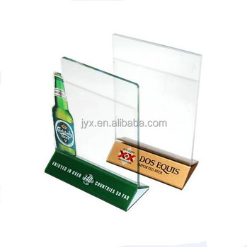 Acrylic table tent with beer bottle shape printing LOGO  sc 1 st  Alibaba & Acrylic Table Tent With Beer Bottle Shape Printing Logo - Buy ...