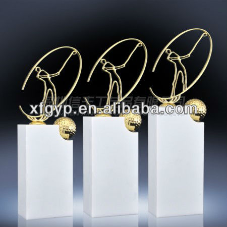 White Marble Golf Trophy