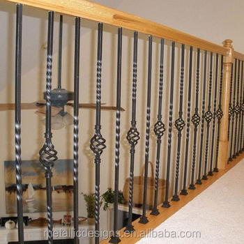 Interior Wrought Iron Stair Baluster Hollow Guard Rail Stairs Railings