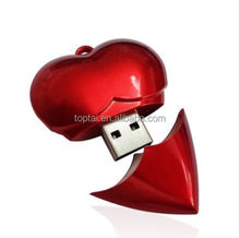 Wedding gift Red Heart model USB 2.0 Memory Stick Flash pen Drive 4GB-32GB
