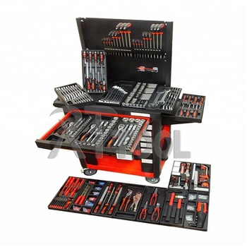 542PCS Roller Steel Storage Tool Cabinet with Hand Tool Set