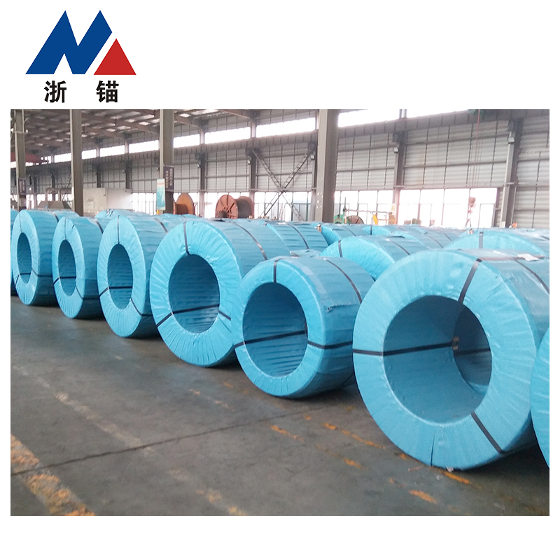High Quality Post Tension Concrete 15.2mm Prestressed Bright Steel Strand 1860 GRADE