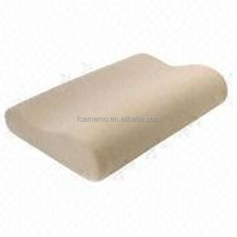 Memory foam pillow promotes proper spinal alignment