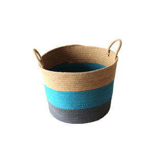chic design top quality handwoven large capacity jute storage