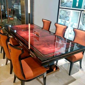 Italy Brand Top High End Home Wood Furniture Tables Dining Table Set