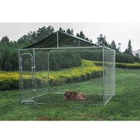 Wholesale low price large outdoor chain link dog kennel dog fence for sale