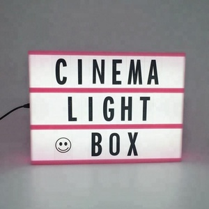 A4 A6 cinema rectangle light board black / colorful letters led cinematic light box