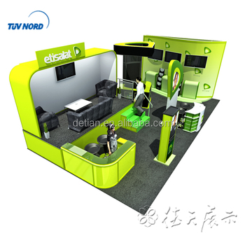Creative Booth Exhibition : Detian offer 4x8m fashion creative exhibit booth design for trade
